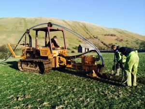 Case 475 tracked plough ideal cross country installations